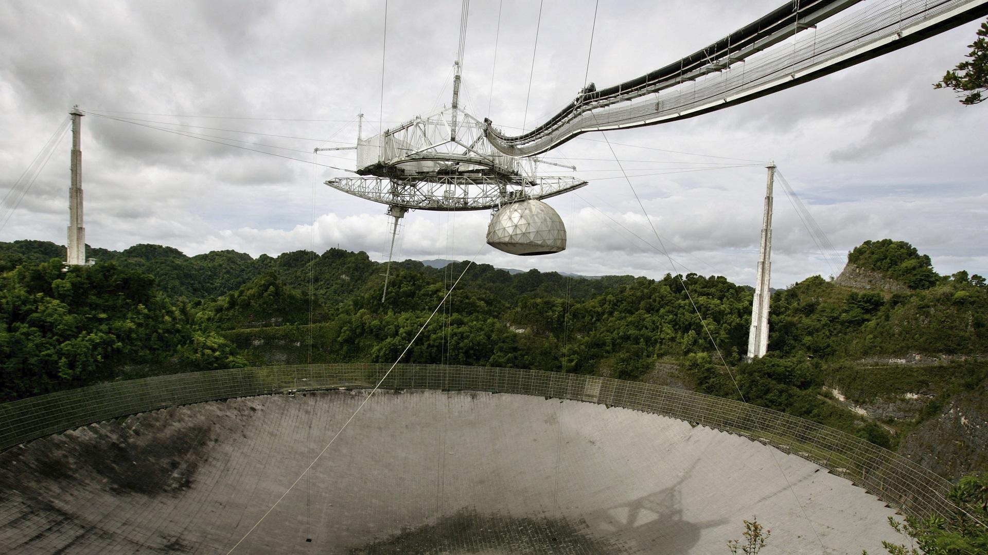 Una pérdida mundial Observatorio de Arecibo Puerto Rico colapsa por fallas estructurales